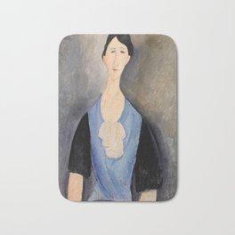 "Amedeo Modigliani ""Young Woman in Blue"" Bath Mat"