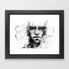 lines hold the memories Framed Art Print