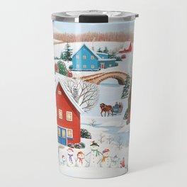 Snow Family Travel Mug