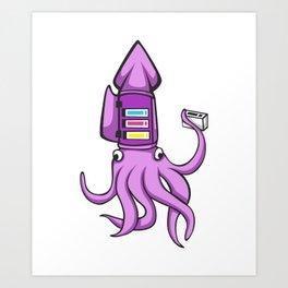 Octopus Empty Cartridge Shirt Squid Art Print