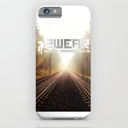 going home trackside iPhone Case