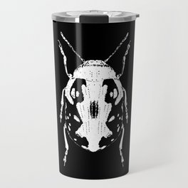 Lady bug on black Travel Mug