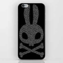 studded bunny skull graphic iPhone Skin
