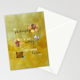 My philosophy Stationery Cards