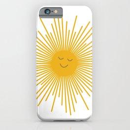 Happy Sun iPhone Case