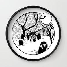 Halloween graveyard Wall Clock