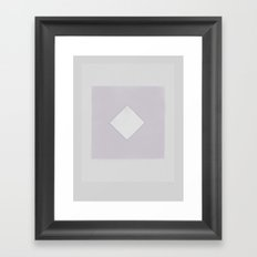 Quietly buried in a moderately safe place Framed Art Print