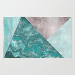 Gemstone And Geode Triangles Rug
