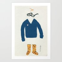 Outfit for Staying at Home Art Print