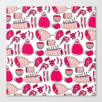 meat Canvas Prints featuring Meat by Rot Rabbit