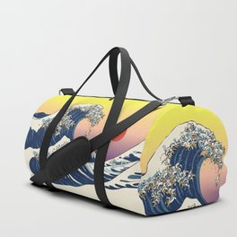 The Great Wave Of  Cat Duffle Bag