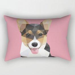 Low Poly Corgi. Rectangular Pillow