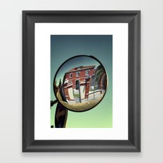 Street mirror. Framed Art Print