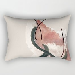 Storm: a minimal abstract mixed media piece in red white and blue Rectangular Pillow