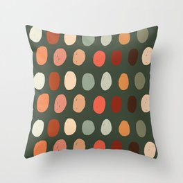Hand drawn pastel dots pattern Throw Pillow