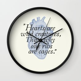 Wild hearts Wall Clock