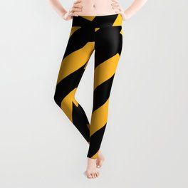 Black and yellow abstract striped Leggings