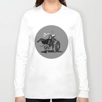 nordic Long Sleeve T-shirts featuring Nordic Bunny by bMacx