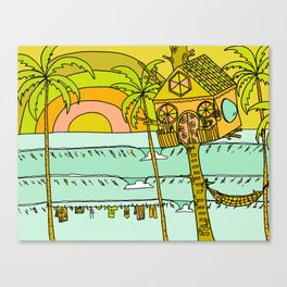 Tree House Free House surf paradise Canvas Print