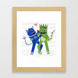 monster tango. Framed Art Print