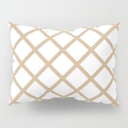 Criss-Cross (Tan & White Pattern) Pillow Sham