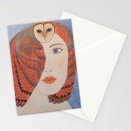 Owl Lady Stationery Cards