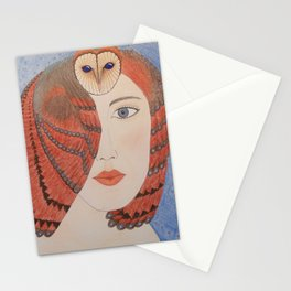 Owl Lady Stationery Cards
