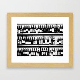 Wine Bottles in Black And White #society6 #decor Framed Art Print