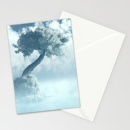 Frozen Tree at the lake Stationery Cards