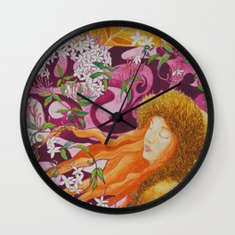 Jasmine - the best scent Wall Clock