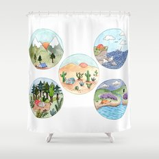 Campsite Selection Shower Curtain