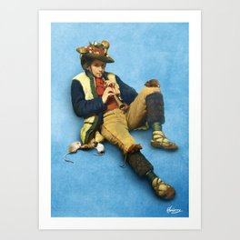 The Piper of Hamelin Art Print