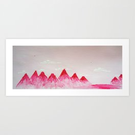 Pink Mountains Art Print
