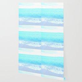 Emerald Blue wave Summer Sea Beach Wallpaper