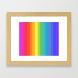 Solid Rainbow Framed Art Print