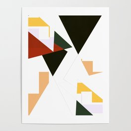 Shapes In Pieces Poster