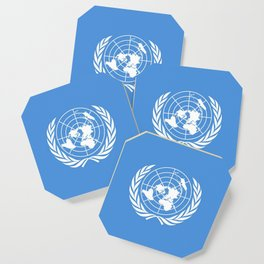 Flag on United nations -Un,World,peace,Unesco,Unicef,human rights,sky,blue,pacific,people,state,onu Coaster