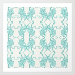 Blue Octacluar Octopus Art Print