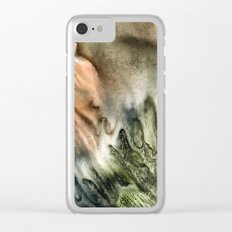 watercolor monotype Clear iPhone Case