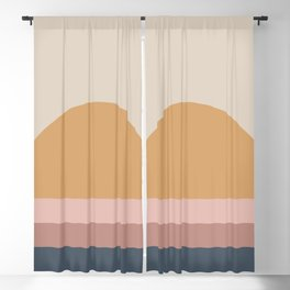 Minimal Retro Sunset - Neutral Blackout Curtain