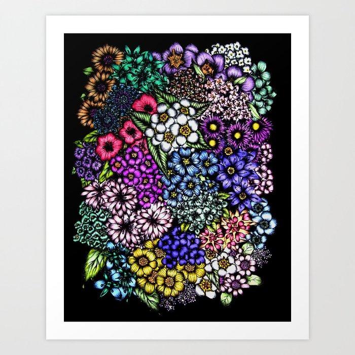 Midnight Blossoms Art Print