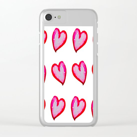 She Said She Wouldn't Go, Hearts! Clear iPhone Case