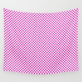 Shocking Pink Polka Dots Wall Tapestry
