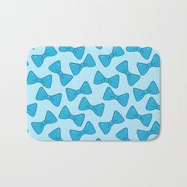 Bow Pattern - Cute Blue Bath Mat