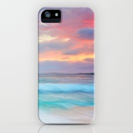 Blue sea iPhone Case
