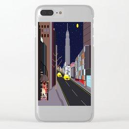 Raining in Manhattan Clear iPhone Case