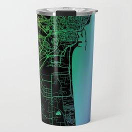Catania, Italy, City, Map, Rainbow, Map, Art, Print Travel Mug