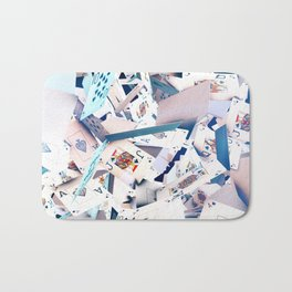 Flying playing cards Bath Mat