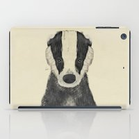 badger iPad Cases featuring little badger by bri.buckley