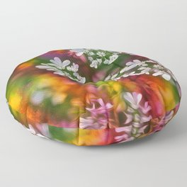 Floral Splash Floor Pillow